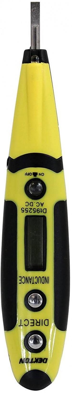 DEKTON DT95255 TESTER DIGITALE DI TENSIONE CON LUCE LED AC/DC 12V A 250V MISURATORE PROFESSIONALE