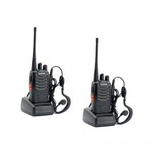 BAOFENG BF-888S UHF WALKIE TALKIES 400-470MHz RICETRASMITTENTE 2 PEZZI