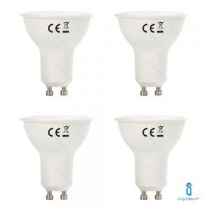 4x LAMPADINA LED GU10 6W 6400K BIANCO FREDDO A+ 440LM FASCIO 120° 160° AIGOSTAR A5