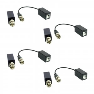 4 TRASMETTITORI VIDEO BALUN PASSIVO AHD - CVI - TVI - ANALOGICO HD
