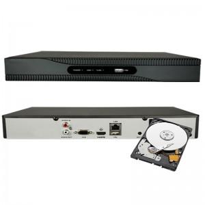 NVR  4 CH 1080P INGRESSO HDMI ONVIF 4 CANALI H265 8 MPX 4K 320 GB