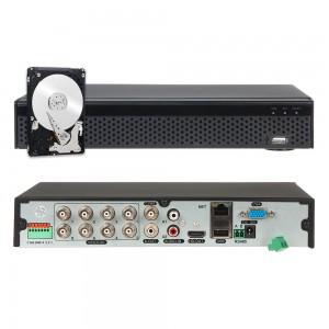 XVR DVR IBRIDO 5in1 AHD CVI TVI CVBS IP 8 CANALI 5M-N CLOUD P2P HDMI 2TB HDD