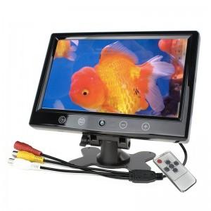 MONITOR LCD 10.1 POLLICI PULSANTI A SFIORAMENTO TELECOMANDO 2 INGRESSI AV AUTO