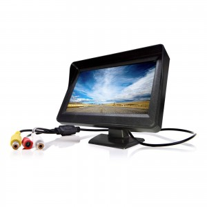 MONITOR 4,3 TFT LCD A COLORI PER TELECAMERA RETROMARCIA