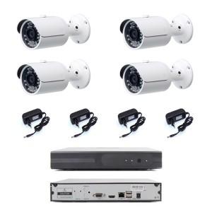 KIT VIDEOSORVEGLIANZA IP NVR 4 CH 4 TELECAMERE IP 1080 36 LED