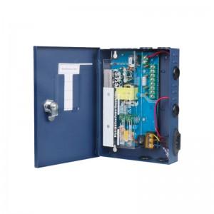 RACK BOX ALIMENTATORE STABILIZZATO 4 USCITE CANALI TELECAMERA TELECAMERE DC CCTV