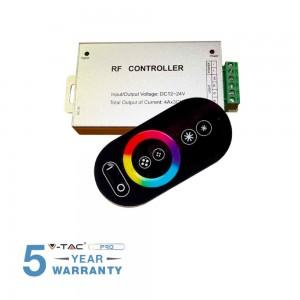 CONTROLLER RF PER STRIP LED RGB CON TELECOMANDO TOUCH V-TAC VT-2405