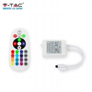 CONTROLLER INFRAROSSO IR STRISCIA LED RGB CON TELECOMANDO 24 TASTI   VT-2472 SKU 3625