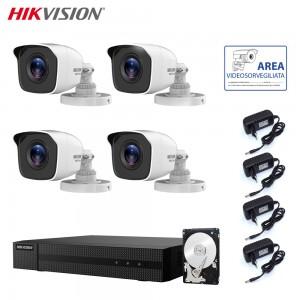 HIKVISION KIT VIDEOSORVEGLIANZA 2 MPX 4 CANALI CON HARD DISK 3 TB