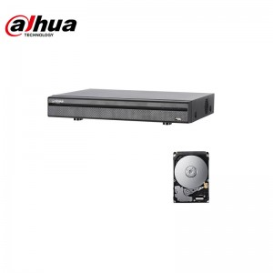 XDVR DVR 5IN1 H265 4 CANALI ULTRA HD 4K 8MP DAHUA  XVR5104H-4KL-X 500 GB