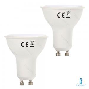 2x LAMPADINA LED GU10 6W 6400K BIANCO FREDDO A+ 440LM FASCIO 120° 160° AIGOSTAR A5