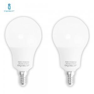 LAMPADINA LED E14 9W 6400K BIANCO FREDDO A60 A+ 765LM 280° FASCIO AMPIO AIGOSTAR A5 2 PEZZI