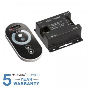 CONTROLLER DIMMER PER STRISCE LED CON TELECOMANDO TOUCH 3X 6A 12V O 24V V-TAC VT-5115