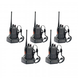 BAOFENG BF-888S UHF WALKIE TALKIES 400-470MHz RICETRASMITTENTE 5 PEZZI