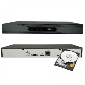 NVR 4 CH 1080P INGRESSO HDMI ONVIF 4 CANALI H265 8 MPX HDD 2 TB