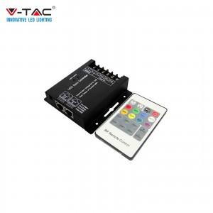 V-TAC VT-2424 CONTROLLER DIMMER SYNC CONNESSIONE RJ45 PER STRIP LED RGB+W CON TELECOMANDO - SKU 3338