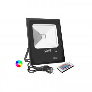 FARO RGB LED FARETTO RGB COLORATO ESTERNO FARETTI RGB COLORATI IP65 50 WATT