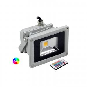 FARO RGB LED FARETTO RGB COLORATO ESTERNO FARETTI RGB COLORATI IP65 10 WATT