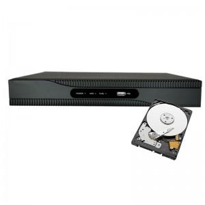 NVR POE INTEGRATO 16 CANALI INGRESSO HDMI ONVIF 16 PORTE POE H265+ 12 MPX HDD 1TB