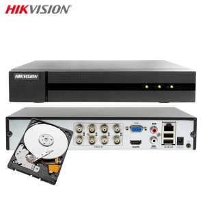 HIKVISION HWD-6108MH-G2 DVR 5IN1 8 CANALI UTC 4 MP TURBO HD 500GB