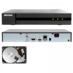 NVR 4 CANALI HIKVISION ONVIF 8 MP H265+ HWN-4104MH 4K P2P HD 500 GB