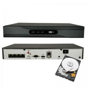 NVR POE INTEGRATO 4 CH 1080P INGRESSO HDMI ONVIF 4 CANALI H265 8 MPX HDD 2TB