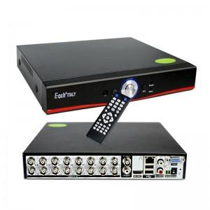 XVR DVR 5in1 AHD CVI TVI CVBS IP 16 CANALI UTC FULL HD 1080P P2P CLOUD