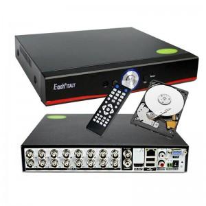 XVR DVR 5in1 AHD CVI TVI CVBS IP 16 CANALI UTC FULL HD 1080P P2P CLOUD HARD DISK 320 GB