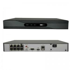 NVR POE INTEGRATO 8 CH 1080P INGRESSO HDMI ONVIF 8 CANALI H265 8 MPX