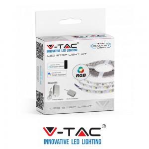 Kit per Striscia Smart RGB V-TAC 300LED Wifi IP20 Compatibile Google Amazon SKU 2583