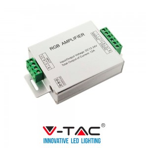 V-Tac VT- 2407 AMPLIFICATORE DI SEGNALE CONTROLLER STRISCE LED RGB 5050