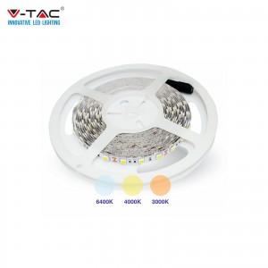 V-TAC VT-5050 STRISCIA 300LED 24V 5050 5M IP20 BIANCO NATURALE CALDO  FREDDO   SKU 2459 - 2431 - 2430