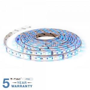 STRISCIA LED V-TAC 5 MT 300 LED SMD 5050 IP20 MULTICOLORE RGB+W CALDO FREDDO NATURALE