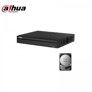 XVR DVR IBRIDO CLOUD  DAHUA 5in1 AHD CVI TVI CVBS IP 4 CANALI UTC FULL HD P2P  HD 500 GB